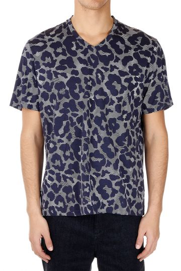 Printed V Neck T-shirt
