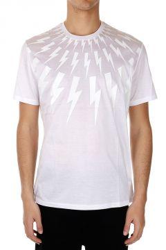T-shirt Stampata con Fulmini