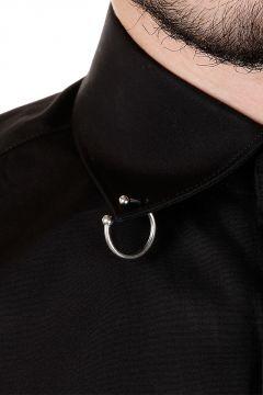 Camicia in Popeline di Cotone con Piercing