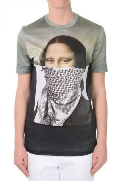 Gioconda kefia Printed Cotton T-shirt