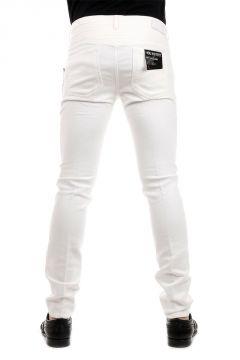 Pantalone SKINNY FIT REGULAR RISE in Cotone