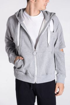 Cotton CUTOUT HOODIE