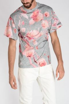 Jersey Cotton ALL OVER ROSE T-shirt