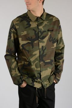 Stretch Cotton Camouflage Trench