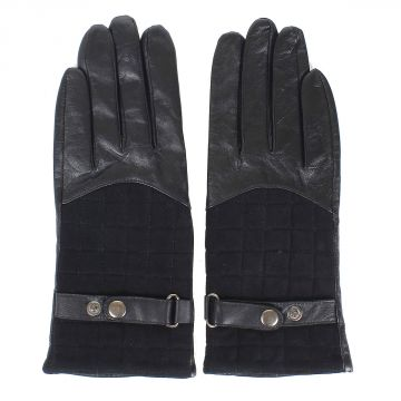 Leather Gloves with mini belt