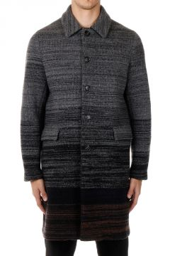 Lond Single-breasted wool Coat
