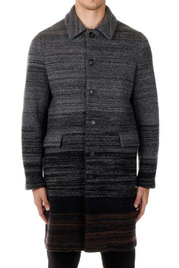 Cappotto monopetto lungo in lana