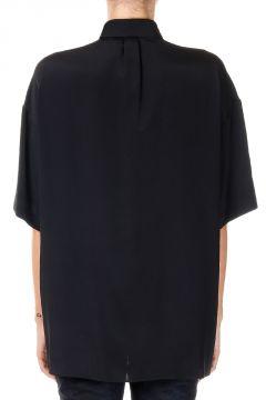 Camicia in Misto seta con Applicazioni