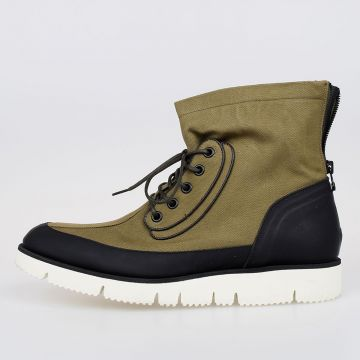 Canvas & Leather AVIATOR BOOTS