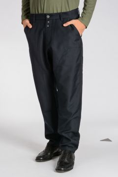 Pantaloni MODIFIED DOUBLE KNEE in Misto Lana Vergine