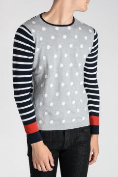Cotton Pois and Striped Sweater