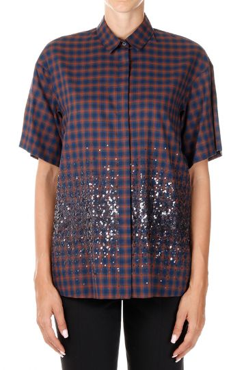 Short Sleeved Shirt with Paillettes