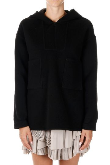 Cashmere and Virgin Wool Hooded Sweater