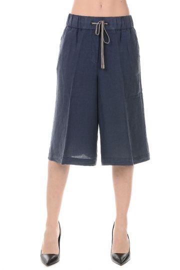 Pantaloni Bermuda in Lino