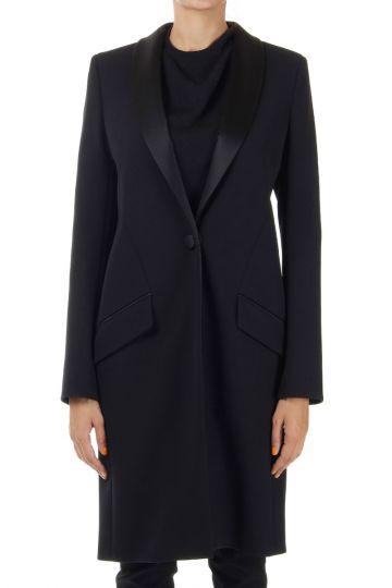 Wool Mixed Tuxedo Coat