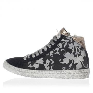 A5STAR Printed Canvas Sneakers with Glitter