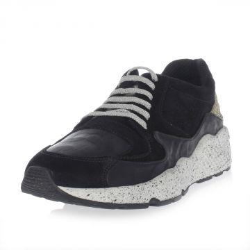 Sneakers basse in pelle con Glitter A5AMERICA