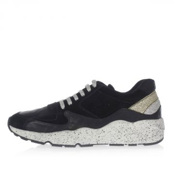 A5AMERICA Glittered Leather low Sneakers