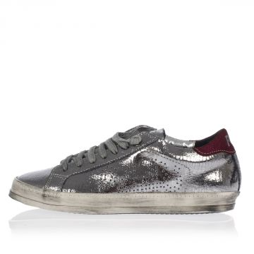 A5JOHN Cracked Patent Leather Sneakers
