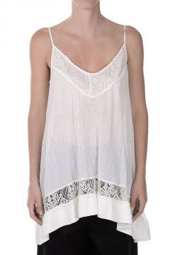 LAUNDRY - CARATO Tank Top with Silk Details