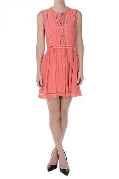 SELENE Silk Sleeveless Flared Dress