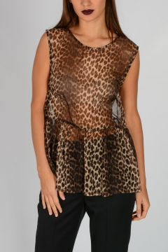 Sleeveless Leo Printed POPARD Top