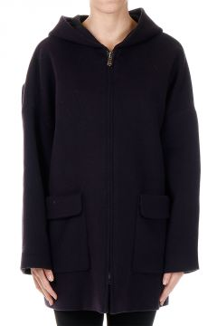 Hooded Mixed Wool Coat