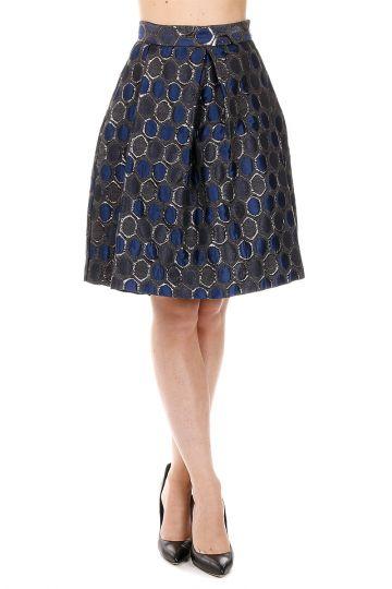 Geometric Printed PALVEO Wool blend Skirt