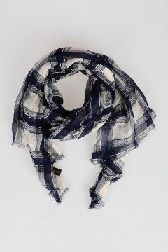 170x65 Cotton Checked Foulard