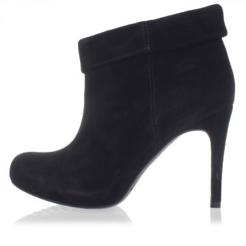 Suede Leather boots with heel 10 cm
