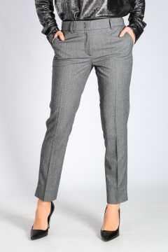 SIGN Herringbone Stretch Fabric Pants