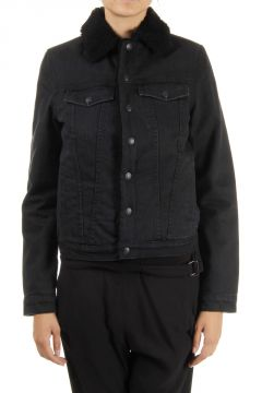 Denim Jacket with Shearling Inner