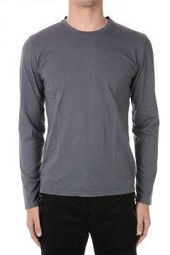 T-shirt In Jersey di Cotone A Manica Lunga