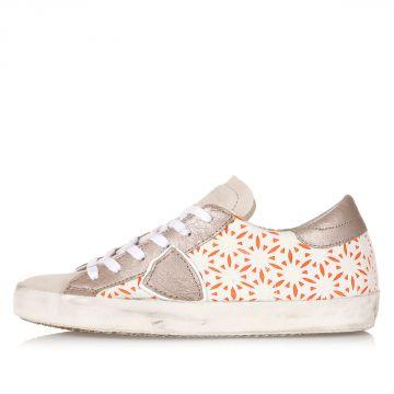 Low Floral Pattern Sneakers