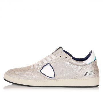 Sneakers in Pelle Effetto Vintage