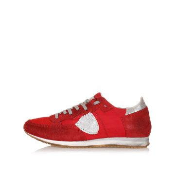 TROPEZ Leather and Fabric Sneakers kid
