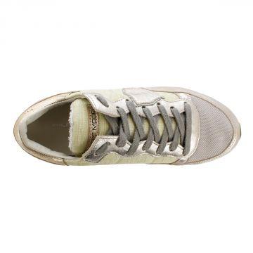 Sneakers TROPEZ MET in Pelle e Tessuto