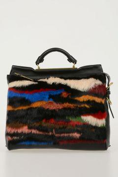 Real Fur & Leather RYDER Satchel Bag