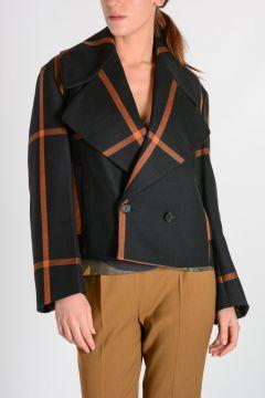 OVERSIZED LAPEL PEA COAT Jacket