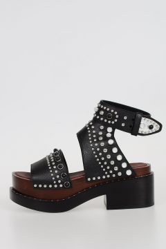 6cm Leather NASHVILLE Wedge Heel with Stud