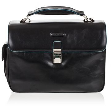 BLUE SQUARE Leather Small Size PC Briefcase