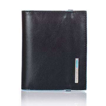 BLUE SQUARE Pocket Credit Card Holder PP1395B2/N Black