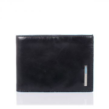 Leather BLUE SQUARE Wallet