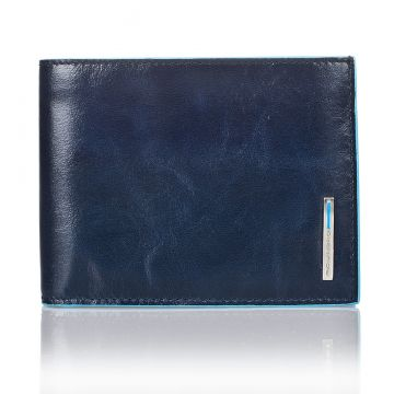 Men Wallet PIQUADRO BLUE SQUARE in Blue Leather PU257B2/BLU2