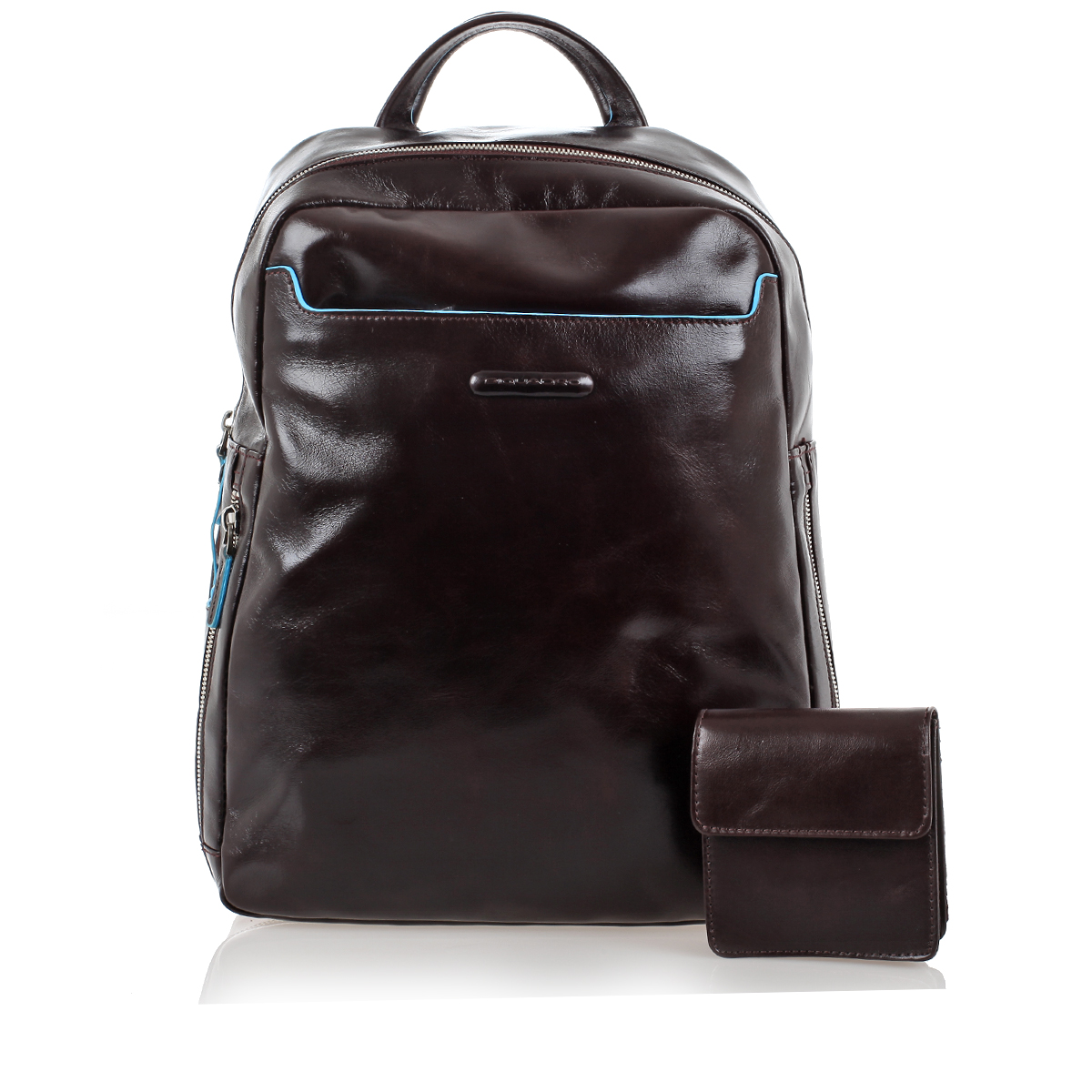 Piquadro Men Leather BLUE SQUARE Backpack PC 13'' and iPad ...