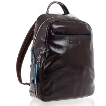 Leather BLUE SQUARE Backpack PC 13'' and iPad Holder