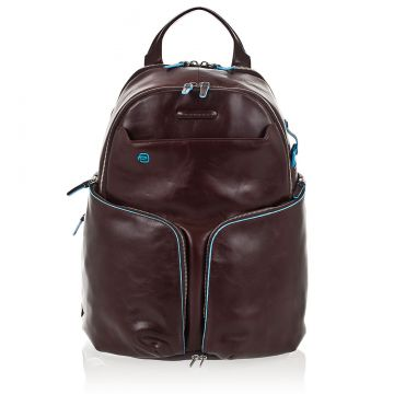 BLUE SQUARE Expandable Leather PC Backpack