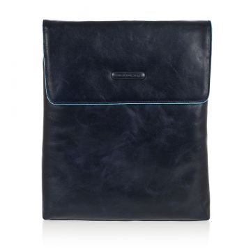 Leather BLUE SQUARE Shoulder Bag