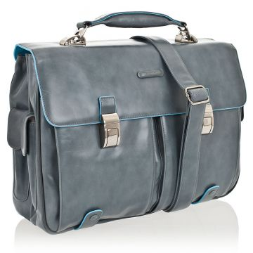 Cartella Porta PC BLUE SQUARE in Pelle