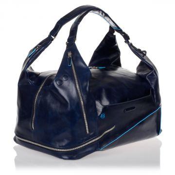 Leather BLUE SQUARE Travel Bag
